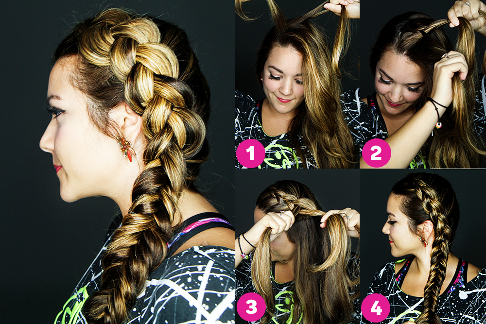 The Dutch-Into-Fishtail Side Braid