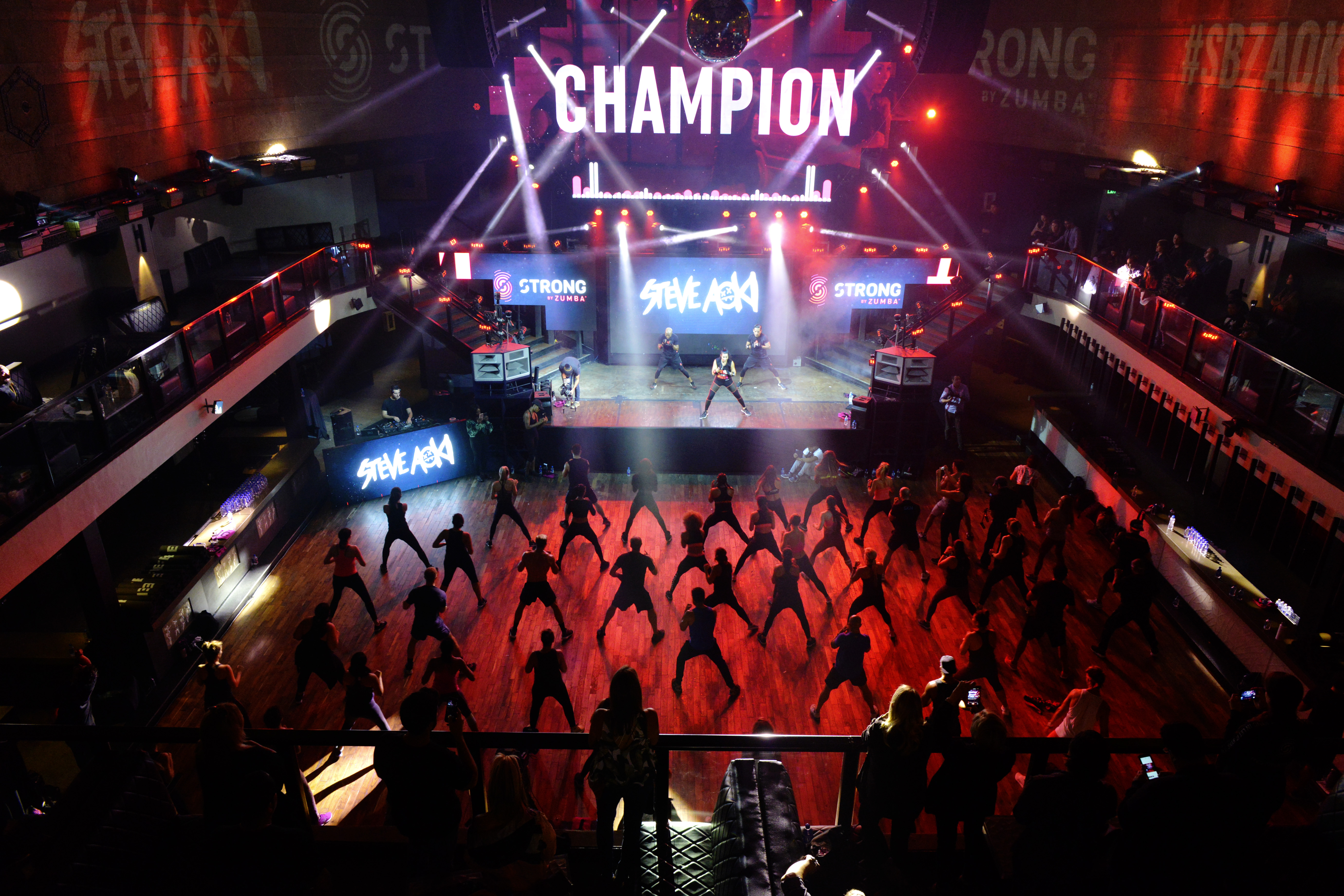 Attendees completing the STRONG by Zumba routine set to Steve Aoki's 'Champion' | October 4, 2017